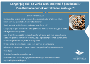 Jóna Kristín sushi